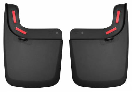 Husky Liners - Husky Liners 17 Ford F-250 Super Duty / F-350 Super Duty Rear Mud Guards (w/ Flares) Black