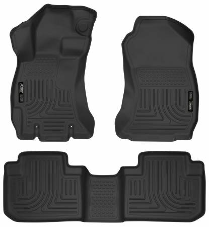 Husky Liners - Husky Liners 14 Subaru Forester Weatherbeater Black Front & 2nd Seat Floor Liners