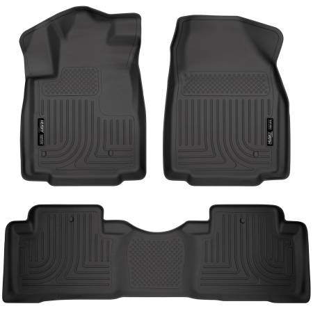 Husky Liners - Husky Liners 09-12 Honda Pilot (All) WeatherBeater Combo Black Floor Liners (One Piece for 2nd Row)