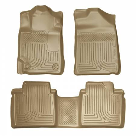 Husky Liners - Husky Liners 07-11 Toyota Camry (All) WeatherBeater Combo Tan Floor Liners (One Piece for 2nd Row)