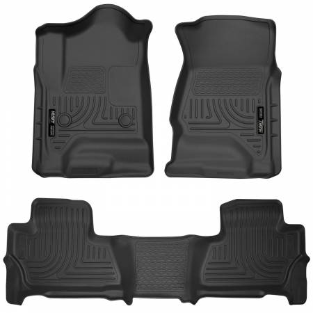 Husky Liners - Husky Liners 2015 Chevy/GMC Suburban/Yukon XL WeatherBeater Combo Black Front&2nd Seat Floor Liners
