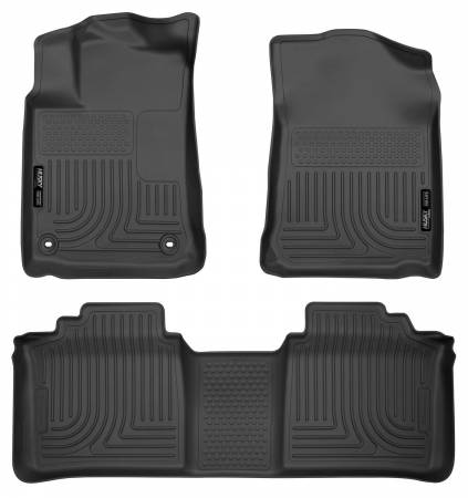 Husky Liners - Husky Liners 13-14 Toyota Avalon Electric/Gas Weatherbeater Black Front & 2nd Seat Floor Liners