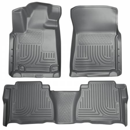 Husky Liners - Husky Liners 2012 Toyota Tundra Double/CrewMax Cab WeatherBeater Combo Gray Floor Liners