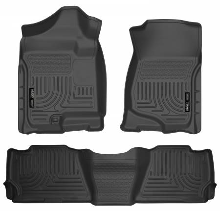 Husky Liners - Husky Liners 07-13 GM Escalade ESV/Avalanche/Suburban WeatherBeater Black Front/2nd Row Floor Liners