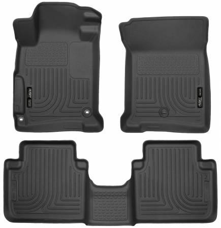 Husky Liners - Husky Liners 2013 Honda Accord WeatherBeater Black Front & 2nd Seat Floor Liners (4-Door Sedan Only)