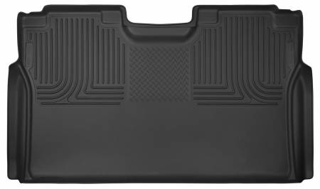 Husky Liners - Husky Liners 15-17 Ford F-150 SuperCrew X-Act Contour Black 2nd Seat Floor Liners (Full Coverage)