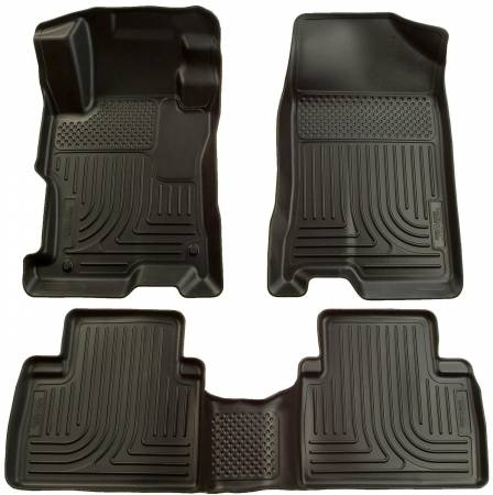 Husky Liners - Husky Liners 07-12 Nissan Altima (Non-Hybrid) WeatherBeater Combo Black Floor Liners (1pc. 2nd Row)