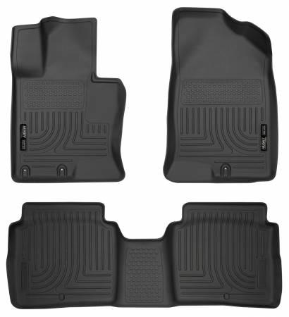 Husky Liners - Husky Liners 11-14 Kia Optima Weatherbeater Black Front & 2nd Seat Floor Liners