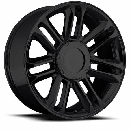 Factory Reproductions Wheels - FR Series 39 Replica Escalade Wheel 22X9 6X5.5 ET31 78.1CB Gloss Black