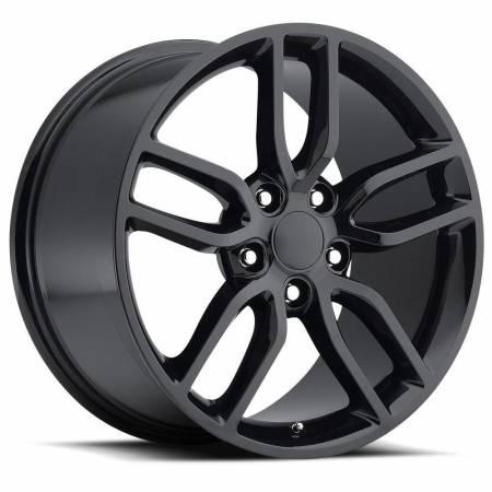 Factory Reproductions Wheels - FR Series 26 Replica C7 Corvette Wheel 17X8.5 5X4.75 ET56 70.3CB Gloss Black