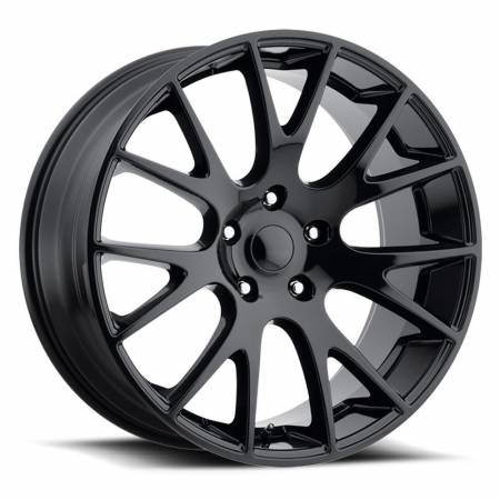 Factory Reproductions Wheels - FR Series 70 Replica Hellcat Wheel 22X10 5X5 ET45 71.5CB Gloss Black