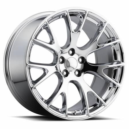 Factory Reproductions Wheels - FR Series 70 Replica Hellcat Wheel 22X9 5X115 ET18 71.5CB Chrome