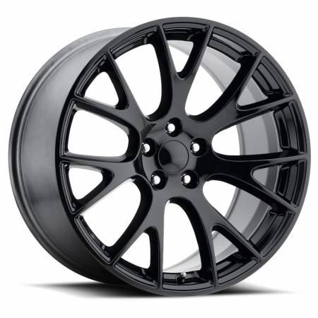 Factory Reproductions Wheels - FR Series 70 Replica Hellcat Wheel 22X9 5X115 ET18 71.5CB Gloss Black