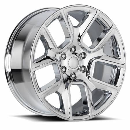 Factory Reproductions Wheels - FR Series 76 Replica Ram 1500 Wheel 22X9 6X5.5 ET15 77.8CB Chrome