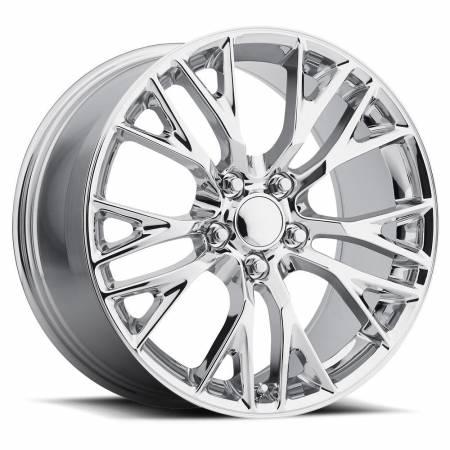 Factory Reproductions Wheels - FR Series 22 Replica C7 Corvette Wheel 18X9.5 5X4.75 ET40 70.3CB Chrome