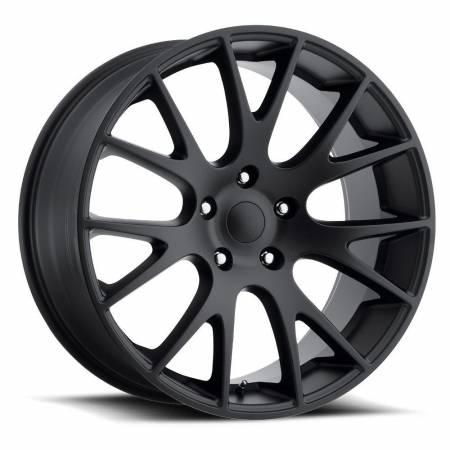 Factory Reproductions Wheels - FR Series 70 Replica Hellcat Wheel 22X10 5X5.5 ET25.4 77.8CB Satin Black
