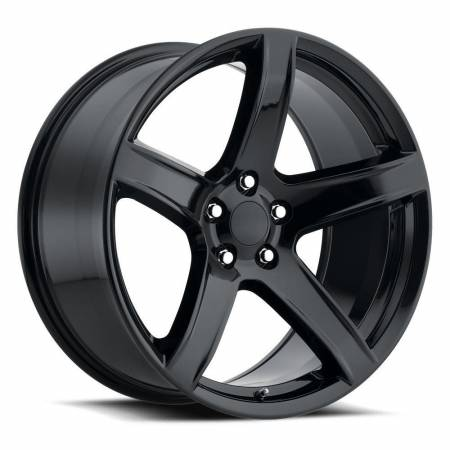 Factory Reproductions Wheels - FR Series 77 Replica Hellcat Wheel 20X11 5X115 ET22 71.5CB Gloss Black