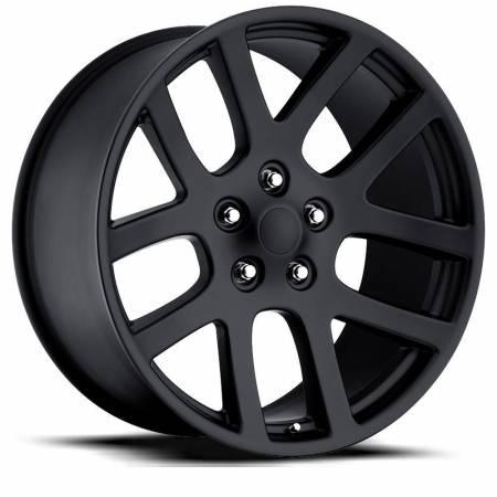 Factory Reproductions Wheels - FR Series 60 Replica Ram 1500 Wheel 24X10 5X5.5 ET25.4 77.8CB Satin Black