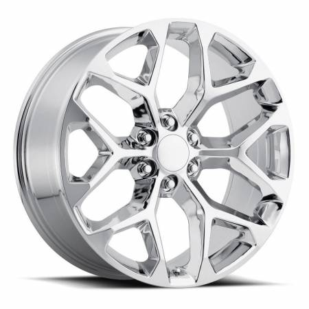 Factory Reproductions Wheels - FR Series 59 Replica Chevy Snowflake Wheel 24X10 6X5.5 ET30 78.1CB Chrome