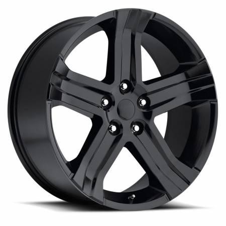 Factory Reproductions Wheels - FR Series 69 Replica Ram 1500 Wheel 22X9 5X5.5 ET20 77.8CB Gloss Black