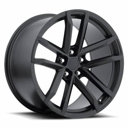 Factory Reproductions Wheels - FR Series 41 Replica Camaro Wheel 20X9 5X120 ET27 66.9CB Satin Black