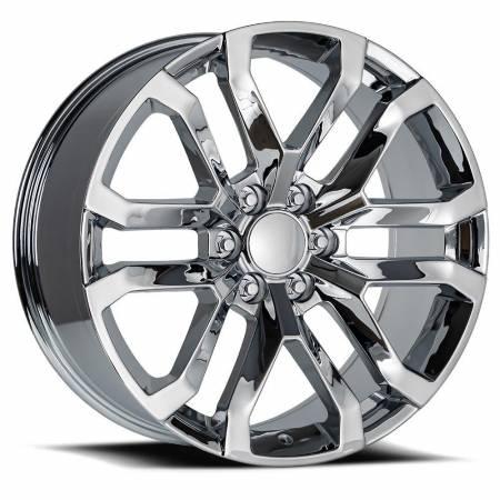 Factory Reproductions Wheels - FR Series 95 Replica Denali Wheel 22x9 6X5.5 ET24 78.1CB Chrome