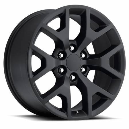 Factory Reproductions Wheels - FR Series 44 Replica GMC Sierra Wheel 22X9 6X5.5 ET31 78.1CB Satin Black