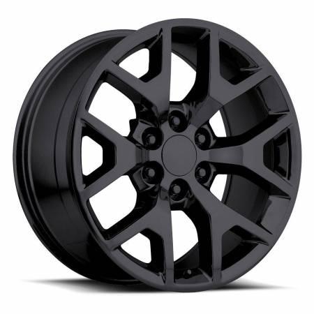 Factory Reproductions Wheels - FR Series 44 Replica GMC Sierra Wheel 24X10 6X5.5 ET31 78.1CB Gloss Black