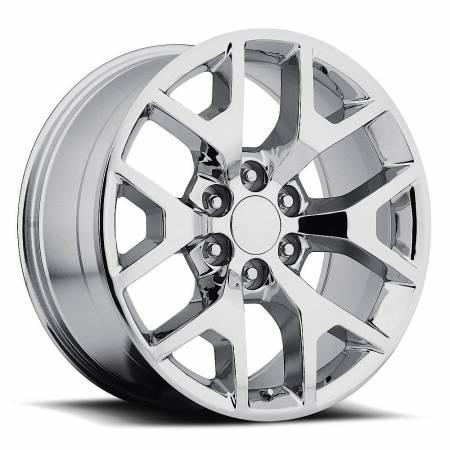Factory Reproductions Wheels - FR Series 44 Replica GMC Sierra Wheel 24X10 6X5.5 ET31 78.1CB Chrome