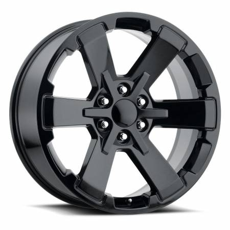 Factory Reproductions Wheels - FR Series 45 Replica 6 Star Wheel 22X9 6X5.5 ET24 78.1CB Gloss Black