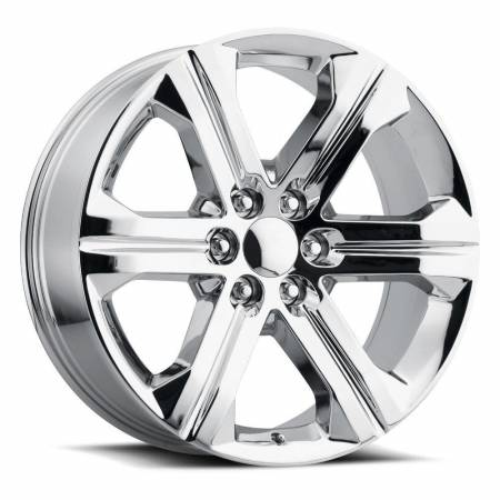 Factory Reproductions Wheels - FR Series 47 Replica GMC Sierra Wheel 22X9 6X5.5 ET24 78.1CB Chrome