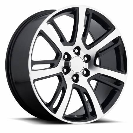 Factory Reproductions Wheels - FR Series 48 Replica Escalade Wheel 24X10 6X5.5 ET31 78.1CB Gloss Black Machine Face