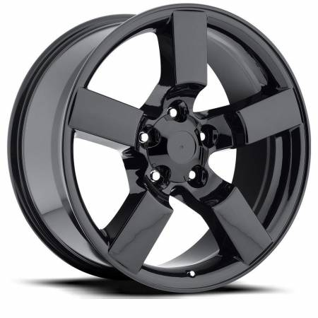 Factory Reproductions Wheels - FR Series 50 Replica Ford Lightning Wheel 20X9 5X5.5 ET8 87CB Gloss Black