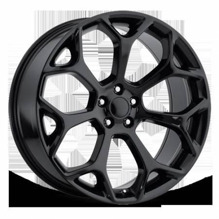 Factory Reproductions Wheels - FR Series 71 Replica Chrysler 300 Wheel 22X9 5X115 ET18 71.5CB Gloss Black