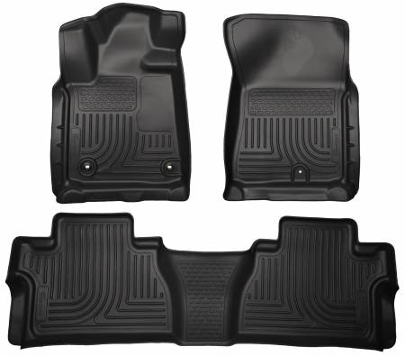 Husky Liners - Husky Liners 14 Toyota Tundra Weatherbeater Black Front & 2nd Seat Floor Liners