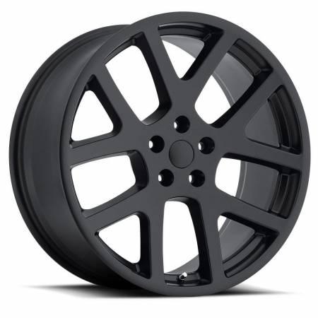 Factory Reproductions Wheels - FR Series 64 Replica Dodge Viper Wheel 22X10 5X115 ET18 71.5CB Satin Black
