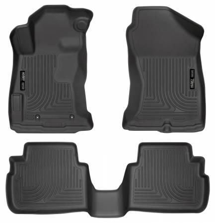 Husky Liners - Husky Liners 2017 Subaru Impreza Weatherbeater Black Front & 2nd Seat Floor Liners