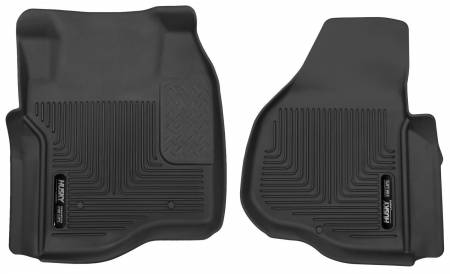 Husky Liners - Husky Liners 11-12 Ford F250/F350/F450 Series Reg/Super/Crew Cab X-Act Contour Black Floor Liners