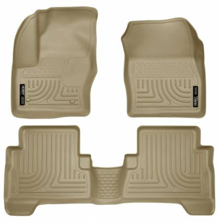 Husky Liners - Husky Liners 2013 Ford Escape WeatherBeater Combo Tan Floor Liners