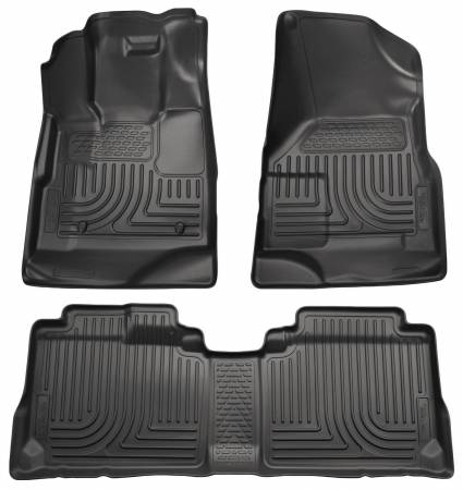 Husky Liners - Husky Liners 10-12 Cadillac SRX WeatherBeater Combo Black Floor Liners (One Piece for 2nd Seat)
