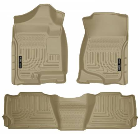Husky Liners - Husky Liners 07-13 GM Escalade ESV/Avalanche/Suburban WeatherBeater Tan Front/2nd Row Floor Liners