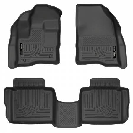 Husky Liners - Husky Liners 10-13 Ford Taurus WeatherBeater Combo Black Floor Liners