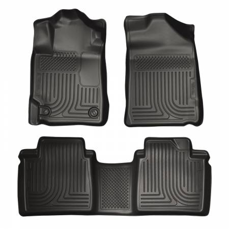 Husky Liners - Husky Liners 07-11 Toyota Camry (All) WeatherBeater Combo Black Floor Liners (One Piece for 2nd Row)