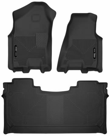 Husky Liners - Husky Liners 2019 Dodge Ram 1500 Crew Cab w/Storage Box Front & 2nd Seat X-Act Contour Floor Liners