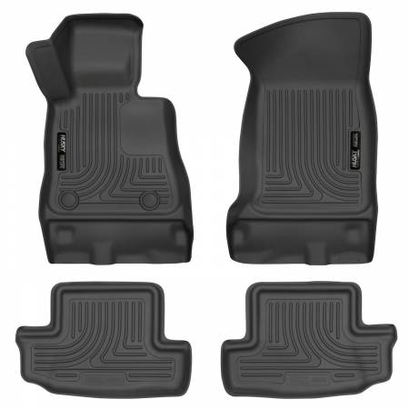 Husky Liners - Husky Liners 16-17 Chevy Camaro WeatherBeater Front and Second Row Black Floor Liners