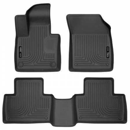 Husky Liners - Husky Liners 2016 Volvo XC90 Classic Style Front and Rear Black Floor Liners