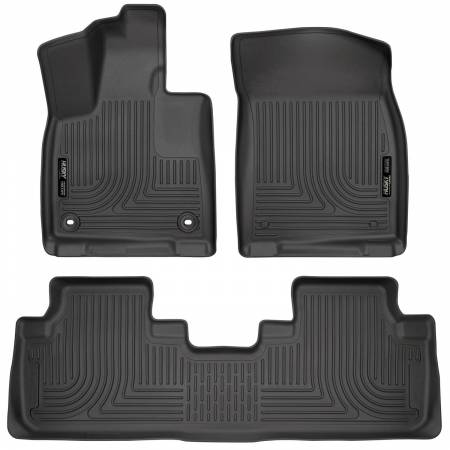 Husky Liners - Husky Liners Weatherbeater 16-17 Lexus RX350 / 16-17 RX450H Front & 2nd Seat Floor Liners - Black