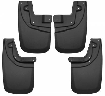 Husky Liners - Husky Liners 05-15 Toyota Tacoma w/ OEM Fender Flares Front and Rear Mud Guards - Black