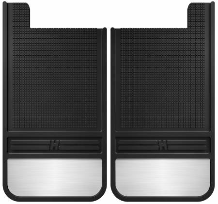 Husky Liners - Husky Liners Universal 12in Wide Black Rubber Rear Mud Flaps w/ Weight