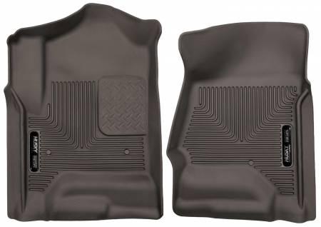 Husky Liners - Husky Liners 14-17 Chevrolet Silverado 1500 X-Act Contour Cocoa Front Floor Liners
